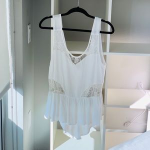 Millau White silky tank top blouse from LF